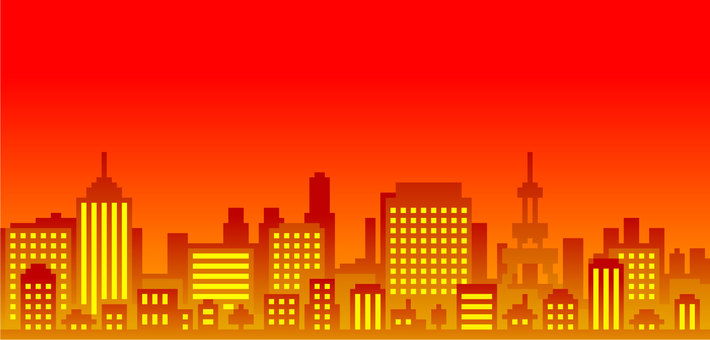 Pixelated cityscape landscape background material