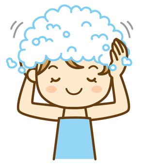Women washing their hair