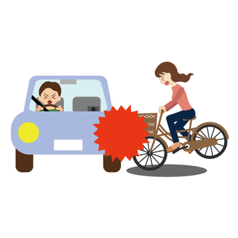 Bicycle and car accident