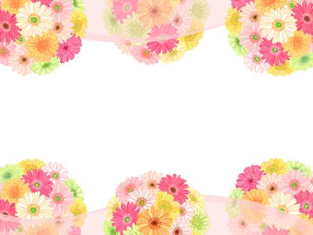 ガーベラの花てまり枠(ベール:ピンク色)