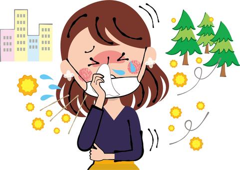 Hay fever Tissue runny nose wipe mask women