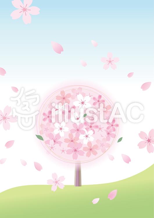 桜53のイラスト