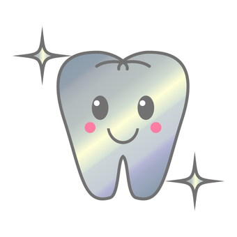 Illustration of tooth Silver tooth