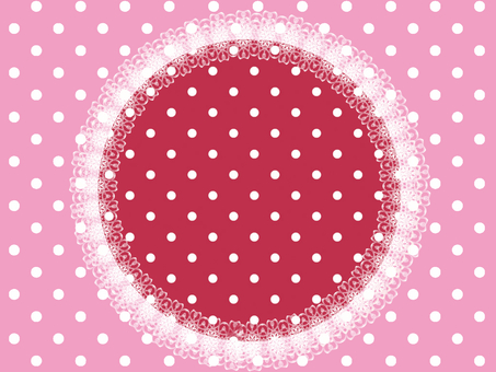 Round dots with red and pink race