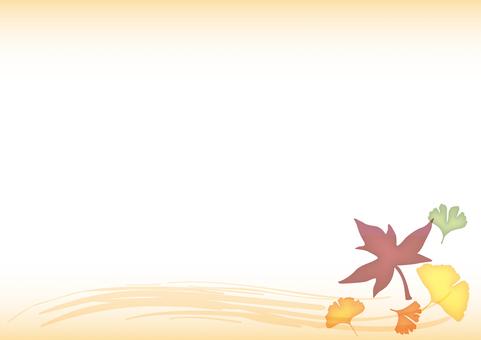 Autumn Japanese Frame · Beige