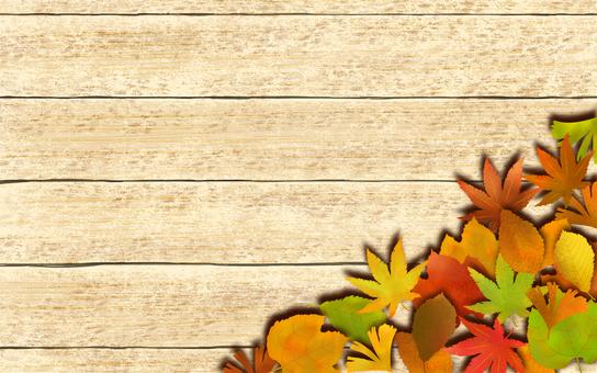 木目落ち葉背景