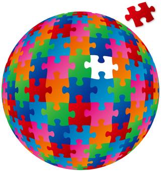 球体ジグソーパズル