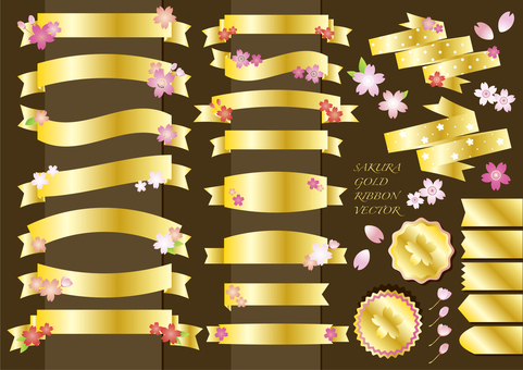 Sakura gold ribbon