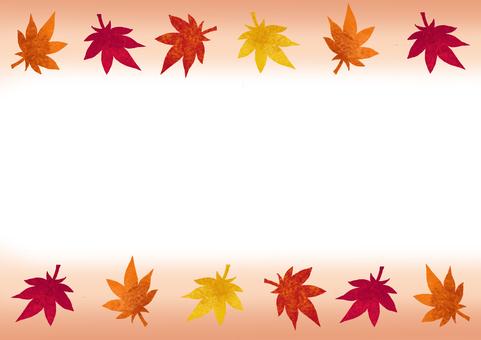 가을 단풍의 테두리 ①