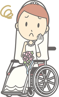 Bride dress - wheelchair troubled - whole body