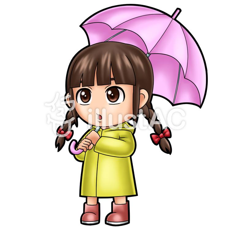 傘をさす女の子イラスト No 1047649無料イラストならイラストac