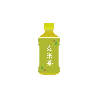 Brown rice tea plastic bottle