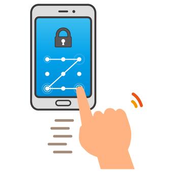 Smartphone pattern lock