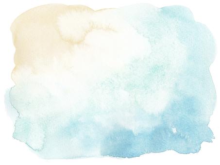 Watercolor background-beige light blue