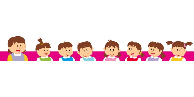 Nursery teacher and children 4