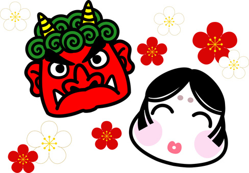Setsubun (Otofuku / Akaemon)