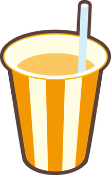 Orange juice in a paper cup
