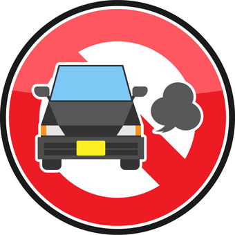 Idling stop sign
