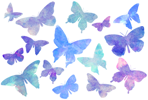 Watercolor Butterfly Postcard Set
