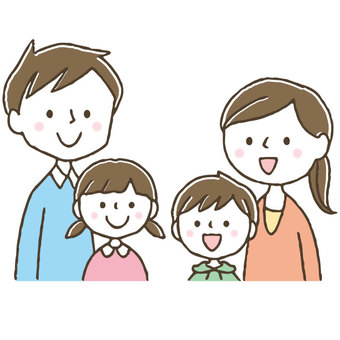 Cute hand-drawn family / parent / child / friend