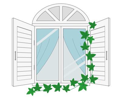 Western-style window (white)