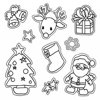 圣诞节图标绘图