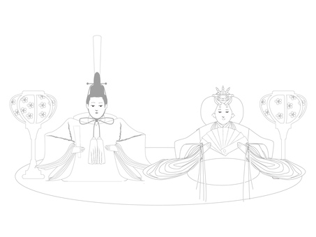 March _ Marching Coloring of Hina Dolls