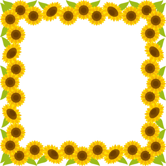 Sunflower square frame (background, no letters)