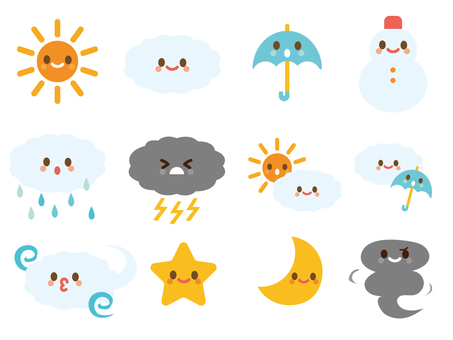 Weather symbol character set