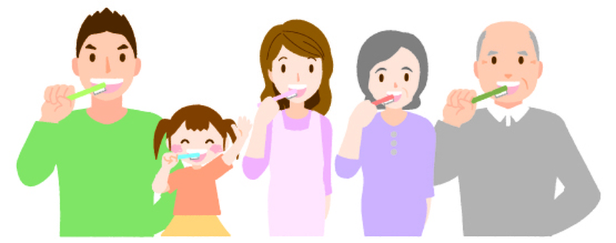 Family with gift