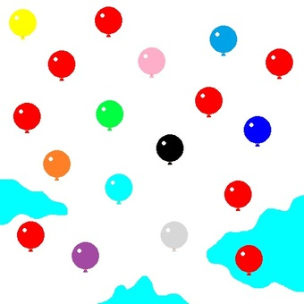8-bit colorful balloon