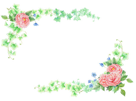 Roses border decoration ★ 0113-R