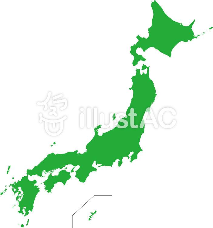 日本地図☆定番シンプルのイラスト