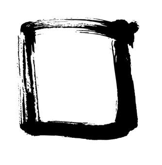 Brush touch rectangular frame