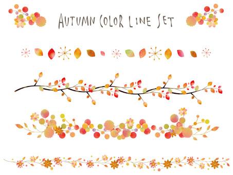 Autumn color line set ver09