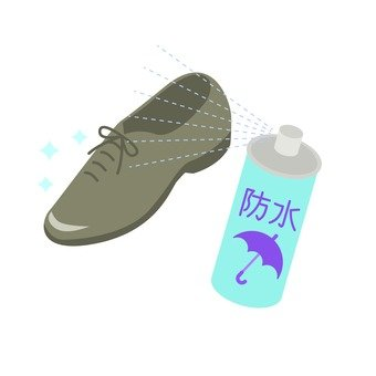 Shoes and waterproof spray