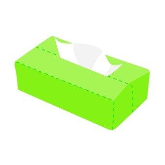 Tissue box (yellow green)