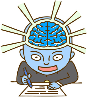 A man whose brain power is awakened