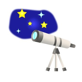 Starry Sky and Astronomical Telescope
