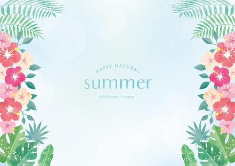Summer background frame 063 hibiscus
