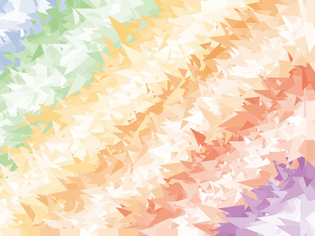 Colorful polygon background material Rainbow