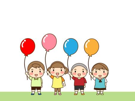 어린이와 풍선