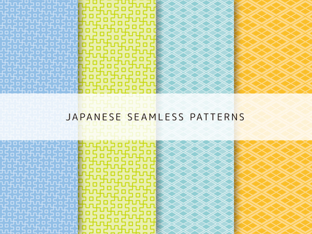 Cute Japanese pattern set -5