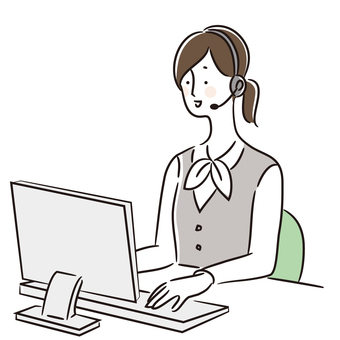 Illustration of a call center woman (uniform 1)