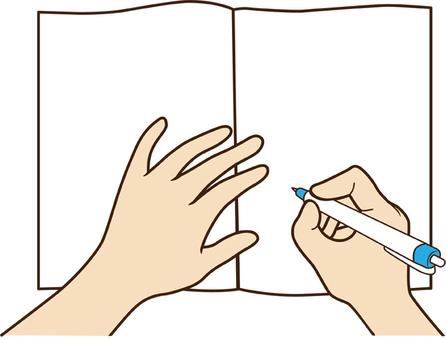 Hand writing_ballpoint pen