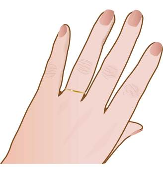 A woman's hand with a ring