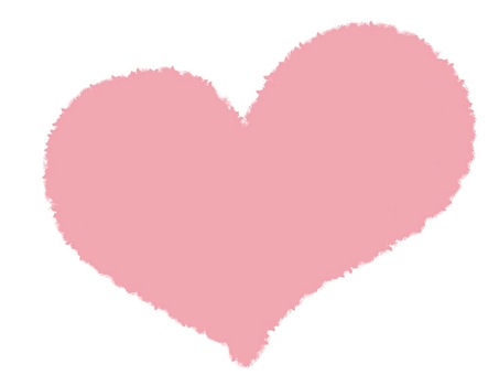 Pastel Heart pale pink