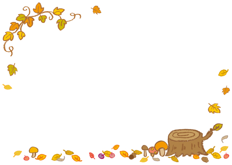 Crayon's fallen leaves