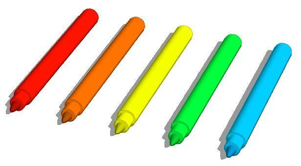 화려한 수성펜