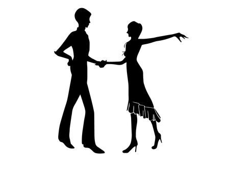 Ballroom dance (silhouette)